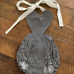 Other - Baby girl heart shaped top romper